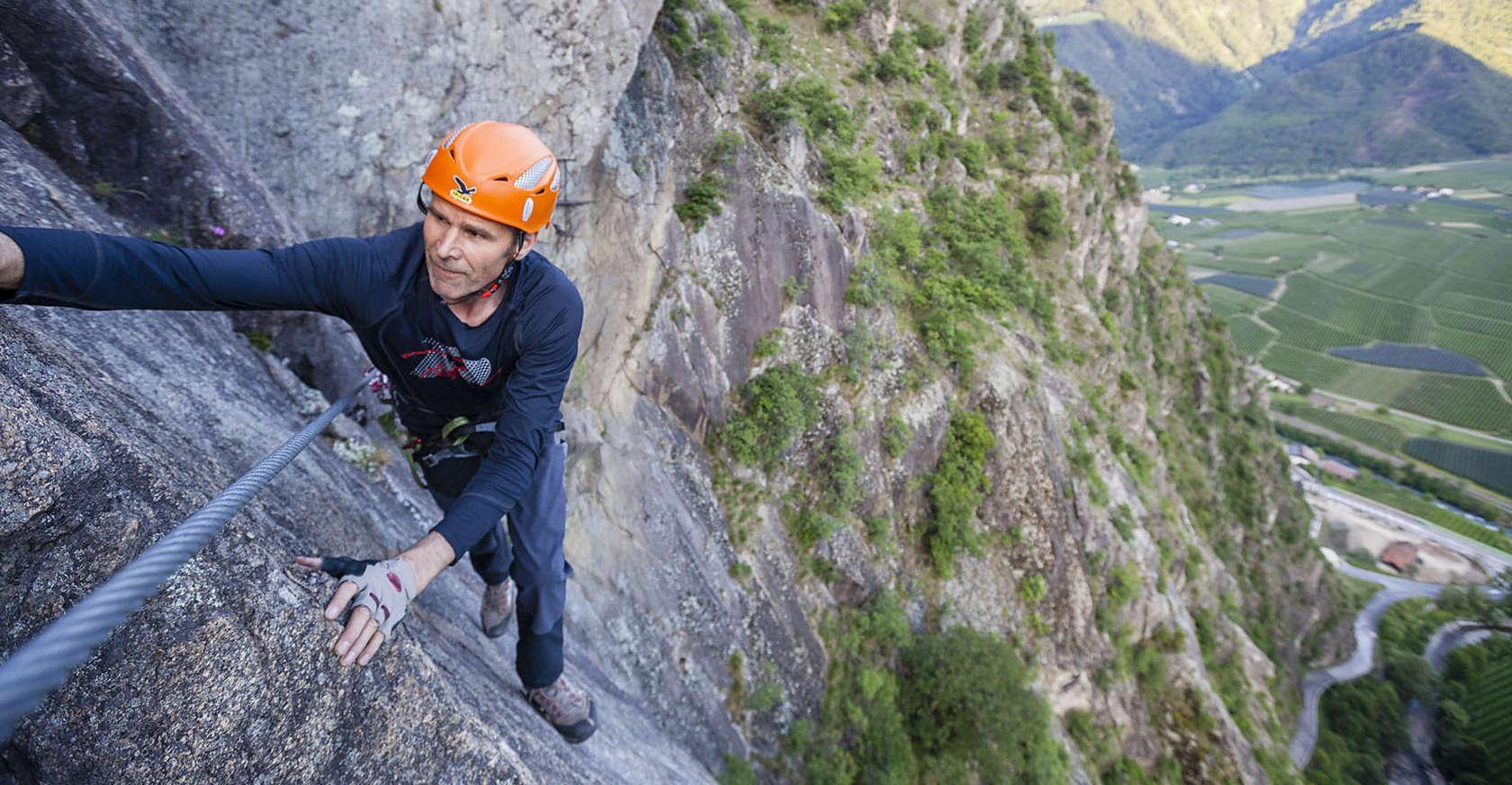 Klettersteig Meran : Klettern in südtirol: der heini holzer klettersteig